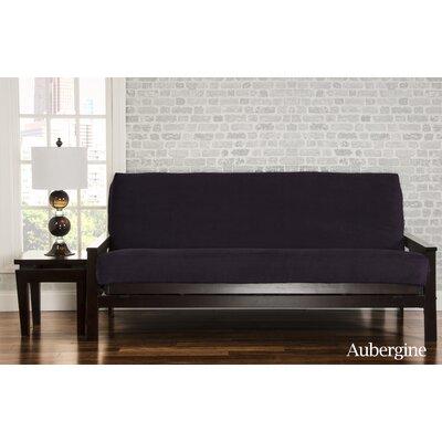 Brooks Box Cushion Sofa Slipcover Upholstery: Eggplant
