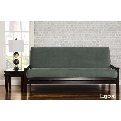 Brooks Box Cushion Sofa Slipcover Upholstery: Lagoon