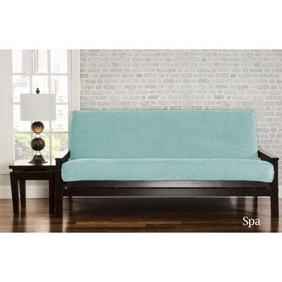 Brooks Box Cushion Sofa Slipcover Upholstery: Spa
