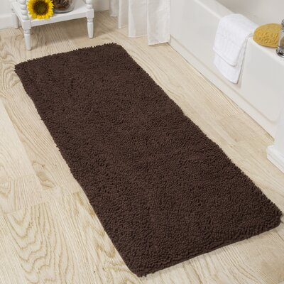 Lia Bath Mat Color: Chocolate