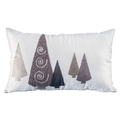 Elias Modern Trees Cotton Lumbar Pillow