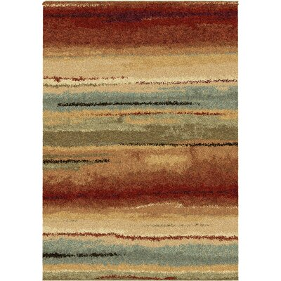 Forrester Capizzi Burgundy/Cream/Dark Brown Area Rug Rug Size: Rectangle 53 x 76