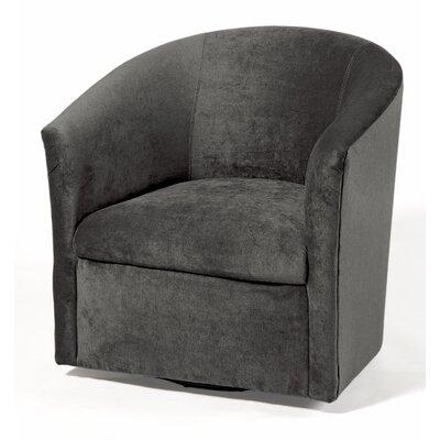 Galen Swivel Barrel Chair Upholstery: Ash