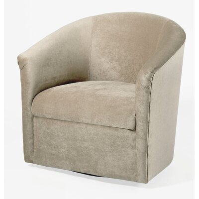 Galen Swivel Barrel Chair Upholstery: Sand
