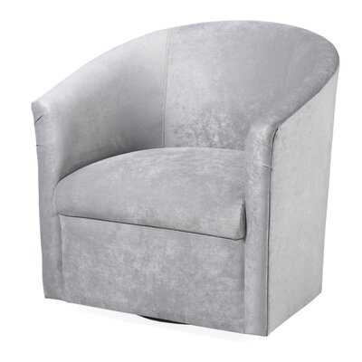 Galen Swivel Barrel Chair Upholstery: Silver