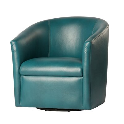 Garland Swivel Barrel Chair Finish: Dark teal
