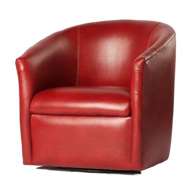 Garland Swivel Barrel Chair Finish: Red
