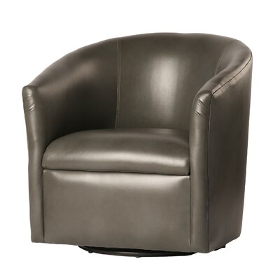 Garland Swivel Barrel Chair Finish: Pewter