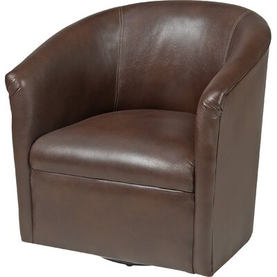 Garland Swivel Barrel Chair Finish: Chocolate