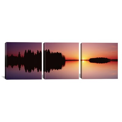Canada Alberta, Elk Island National Park 3 Piece Photographic Print on Wrapped Canvas Set Size: 12