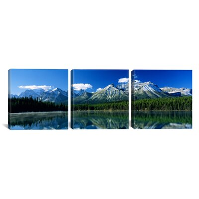 Herbert Lake Banff National Park Canada 3 Piece Photographic Print on Wrapped Canvas Set Size: 12