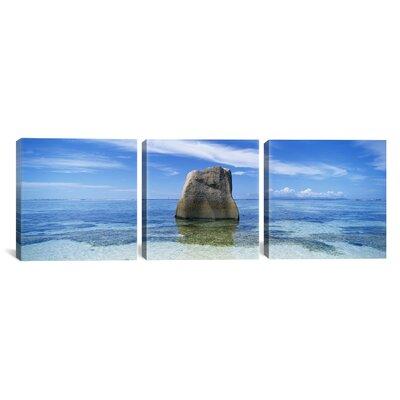 Source D'argent Beach, La Digue Island, Seychelles 3 Piece Vincent van Gogh Photographic Print on Wrapped Canvas Set Size: 12