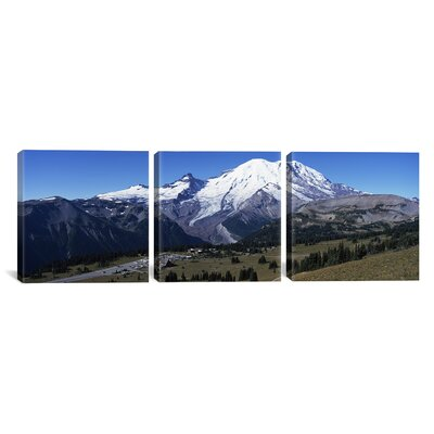 Mt Rainier National Park, Washington 3 Piece Photographic Print on Wrapped Canvas Set Size: 12