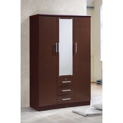 Rasmussen 3 Door Armoire Finish: Mahogany