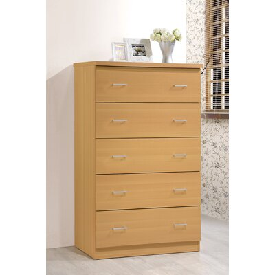 Jamison 5 Drawer Jumbo Chest Color: Beech