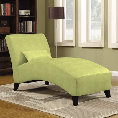 Jules Polyester Chaise Lounge Upholstery: Green