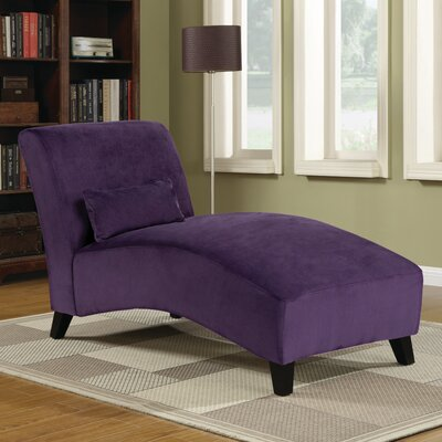 Jules Polyester Chaise Lounge Upholstery: Purple