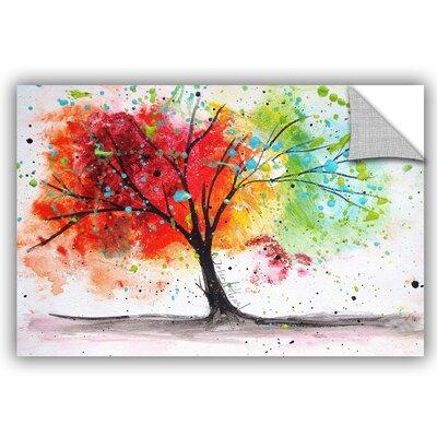 Wade Rainbow Tree I Wall Decal Size: 12