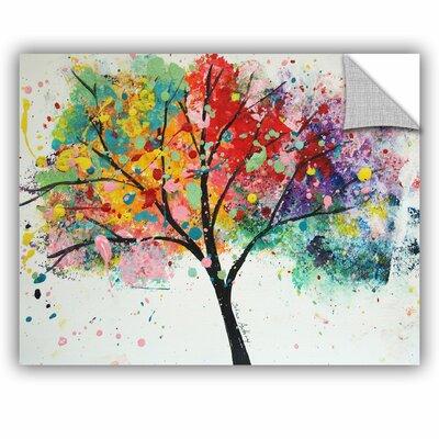 Wade Rainbow Tree III Wall Decal Size: 14