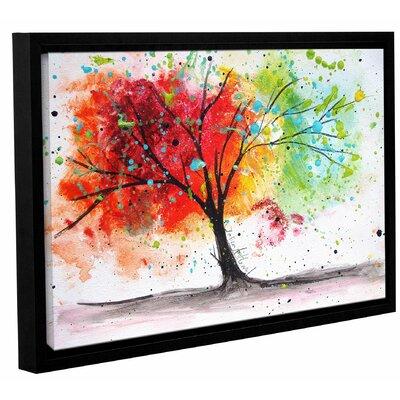 'Rainbow Tree I' Framed Painting Print on Canvas Size: 12