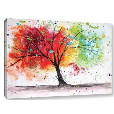 'Rainbow Tree I' Painting Print on Canvas Size: 12