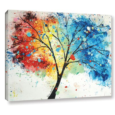 'Rainbow Tree IV' Painting Print on Canvas Size: 14