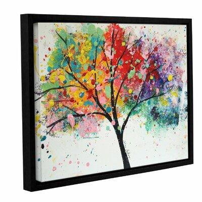 'Rainbow Tree III' Framed Painting Print on Canvas Size: 14