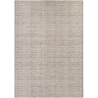Carla Light Brown/Ivory Indoor/Outdoor Area Rug Rug Size: Rectangle 53 x 76