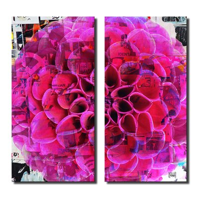 'Painted Petals XCIII' 2 Piece Graphic Art on Canvas Set