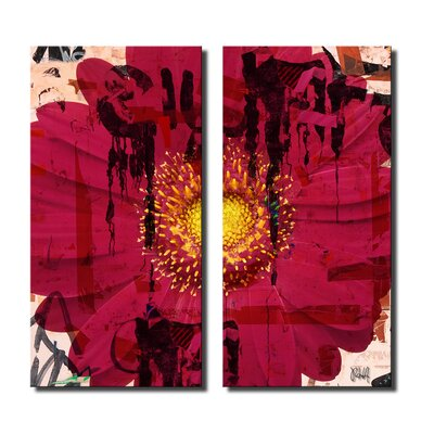 'Painted Petals CI' 2 Piece Graphic Art on Canvas Set