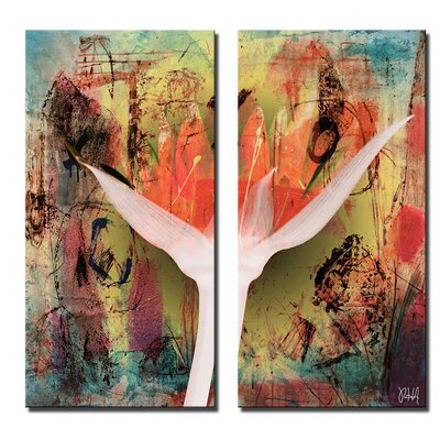 'Painted Petals XXVB' 2 Piece Graphic Art on Canvas Set Size: 24'' H x 24'' W x 1.5'' D