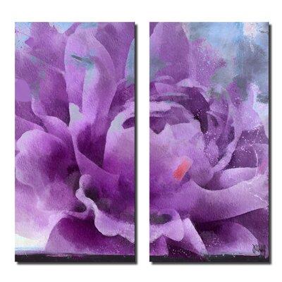 'Painted Petals LI' 2 Piece Graphic Art on Canvas Set Size: 24'' H x 24'' W x 1.5'' D