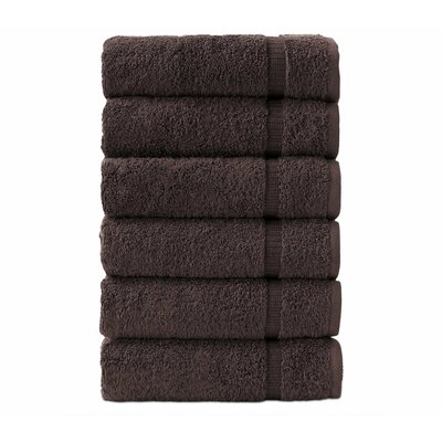 6 Pieces Hand Towel Color: Chocolate