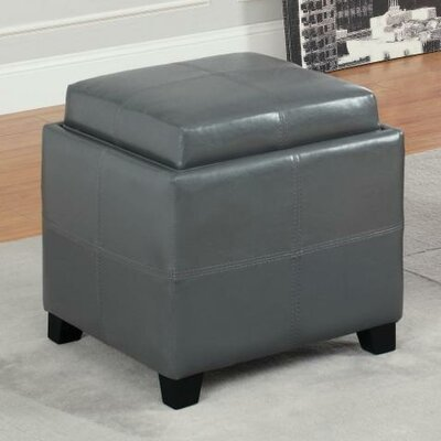 Alastar Storage Cube With Reversible Tray Upholstery: Grey