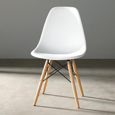 Jorden Solid Wood Dining Chair Upholstery: White