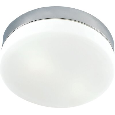 Leyden 1-Light LED Flush Mount Base Finish: Metallic Gray