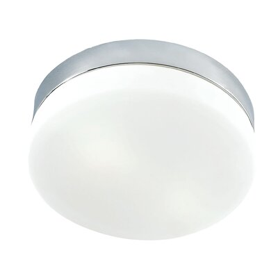 Leyden 1-Light LED Flush Mount Base Finish: Chrome
