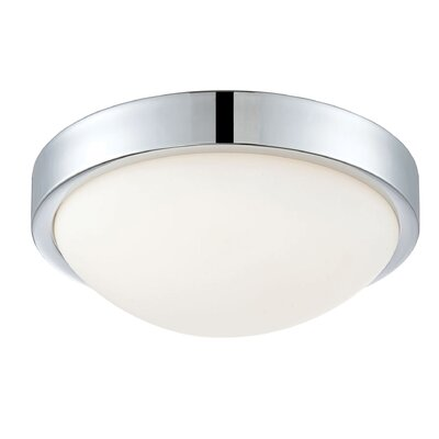 Longmeadow 1-Light LED Flush Mount Size: 4.13 H x 10.25 W x 10.25 D