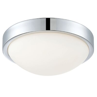 Longmeadow 1-Light LED Flush Mount Size: 4.13 H x 12.25 W x 12.25 D