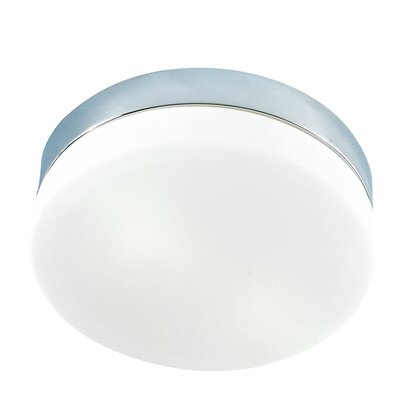 Leyden Mini 1-Light Flush Mount Finish: Chrome