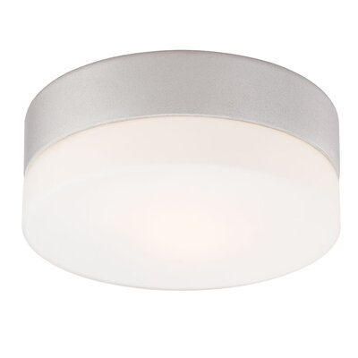 Leyden Mini 1-Light Flush Mount Finish: Metallic Grey