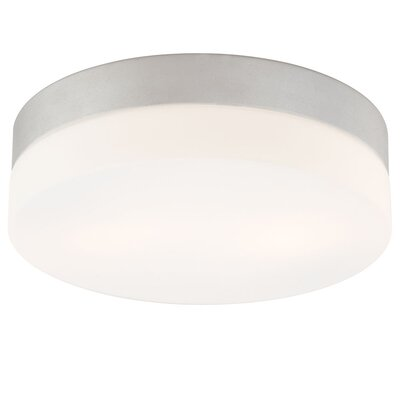 Leyden Medium 2-Light Flush Mount Finish: Metallic Grey