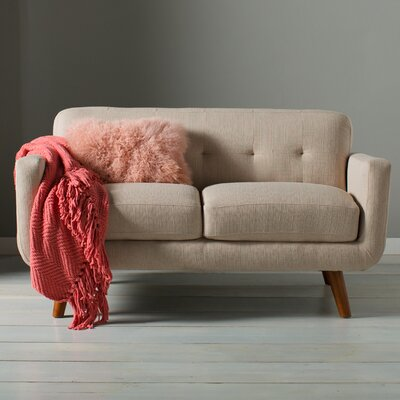 Loveseat Finish: Beige