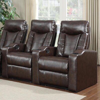 Home Theater Recliner (Row of 2) Upholstery: Brown