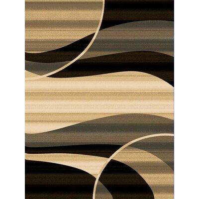Monson Black Rug Rug Size: 53 x 76