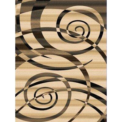 Monson Beige Rug Rug Size: 53 x 76