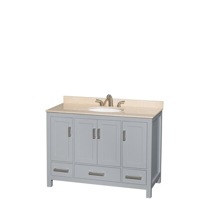 Sheffield 48 Single Bathroom Vanity Set Base Finish: Gray, Top Finish: Ivory