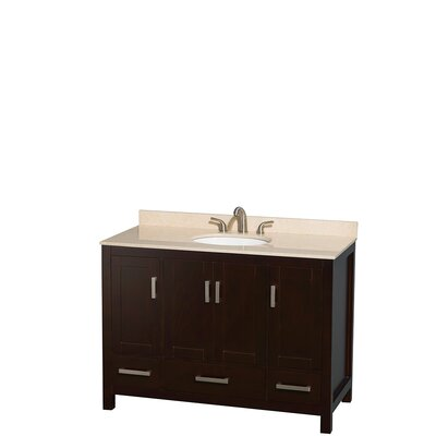 Sheffield 48 Single Bathroom Vanity Set Base Finish: Espresso, Top Finish: Ivory