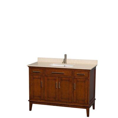 Sheffield 48 Single Bathroom Vanity Set Base Finish: Light Chestnut, Top Finish: Ivory