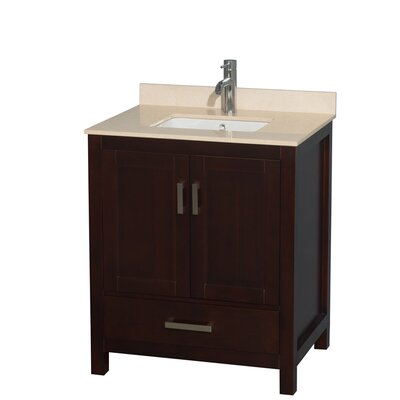 Sheffield 30 Single Bathroom Vanity Set Base Finish: Gray, Top Finish: Ivory
